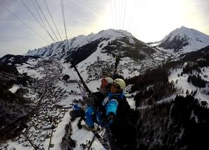 6. Vol ski parapente sensation